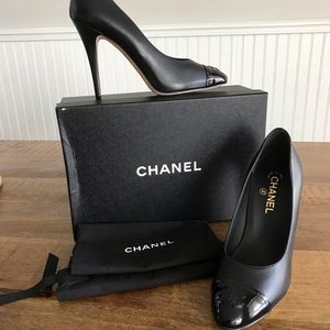 New Agora CC Platform Pump black patent leather